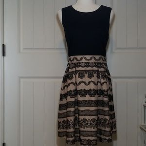 Elle Career Dress with Velvet Flocked Skirt 16